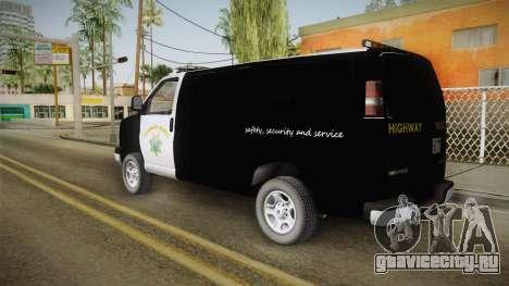Chevrolet Express CHp для GTA San Andreas вид слева