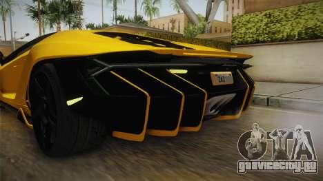 Lamborghini Centenario LP770-4 v1 для GTA San Andreas салон