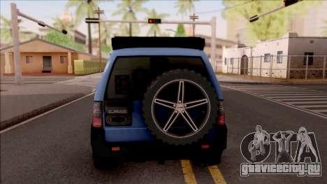 Toyota Meru Off-Road для GTA San Andreas вид сзади слева