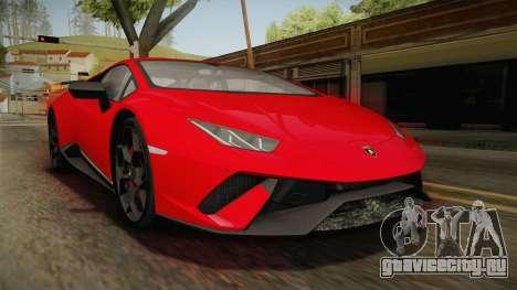 Lamborghini Huracan Performante LP640-4 2017 v1 для GTA San Andreas
