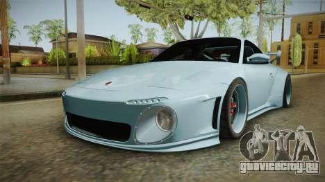 Porsche 997 Old & New 2008 для GTA San Andreas вид сзади слева