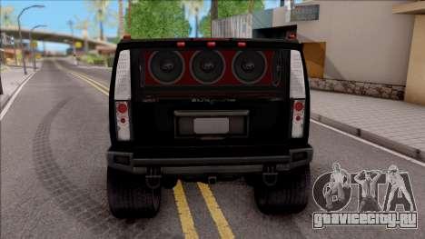 Hummer H2 Batman Edition для GTA San Andreas вид сзади слева