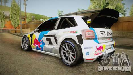 Volkswagen Polo R WRC для GTA San Andreas вид слева