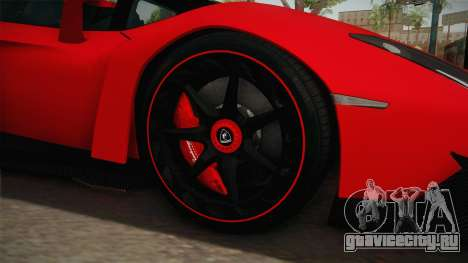 Lamborgini Veneno Roadster 2014 IVF v2 для GTA San Andreas вид сзади