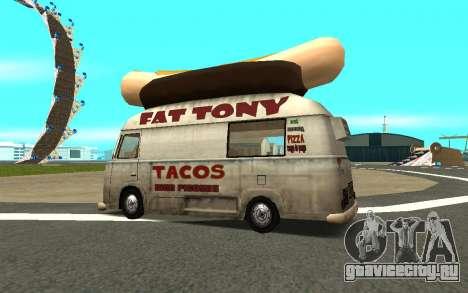HotDog Fat Tony Tacos Tining 4X4 для GTA San Andreas вид слева