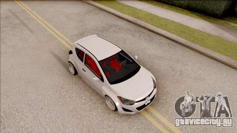 Hyundai i20 для GTA San Andreas вид справа