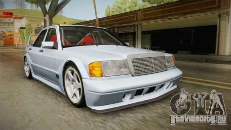 Mercedes-Benz W201 190E для GTA San Andreas вид сзади слева