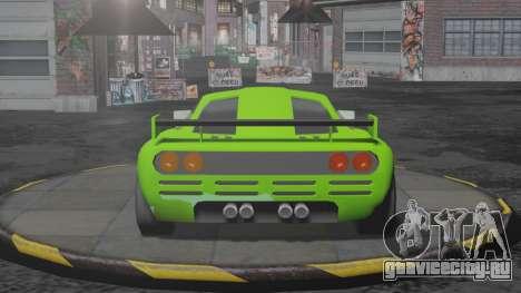 Progen T10 для GTA San Andreas вид сзади