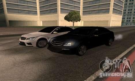 Mercedes-Benz C63 Armenia для GTA San Andreas вид сзади