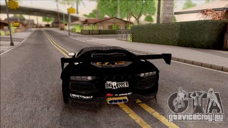 Lamborghini Aventador LP700-4 LB Walk Hunter для GTA San Andreas вид сзади слева