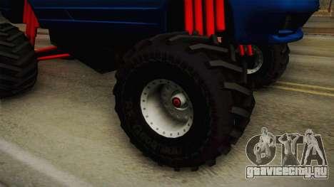 Nissan Skyline R32 Pickup Monster Truck для GTA San Andreas вид сзади