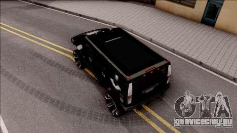 Hummer H2 Batman Edition для GTA San Andreas вид сзади