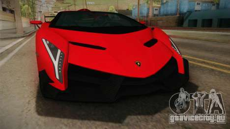 Lamborgini Veneno Roadster 2014 IVF v2 для GTA San Andreas вид изнутри