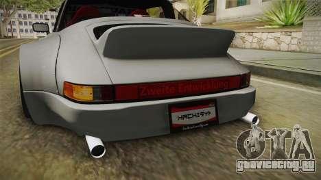 Porsche 911 RWB Terror 1982 для GTA San Andreas салон