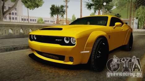 Dodge Challenger Demon 2018 для GTA San Andreas вид справа