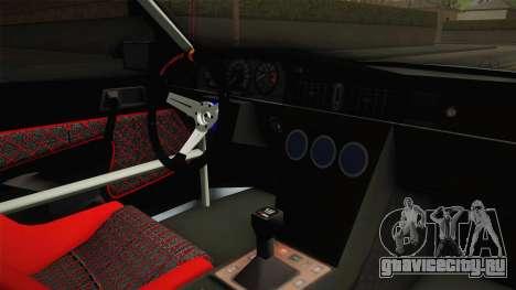 Mercedes-Benz W201 190E для GTA San Andreas вид изнутри