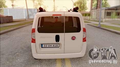 Fiat Fiorino для GTA San Andreas вид сзади слева