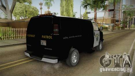 Chevrolet Express CHp для GTA San Andreas вид сзади слева