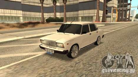 VAZ 2107 Armenian для GTA San Andreas вид сзади