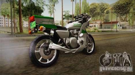 New Police Bike v2 для GTA San Andreas вид сзади слева