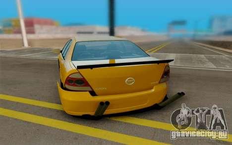 Nissan Almera для GTA San Andreas вид справа