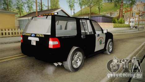Ford Expedition CHP для GTA San Andreas вид сзади слева