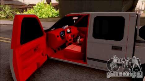 Nissan Ddsen Skrab 2016 для GTA San Andreas вид изнутри