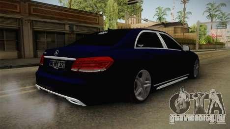 Mercedes-Benz E250 Noyan для GTA San Andreas вид сзади слева