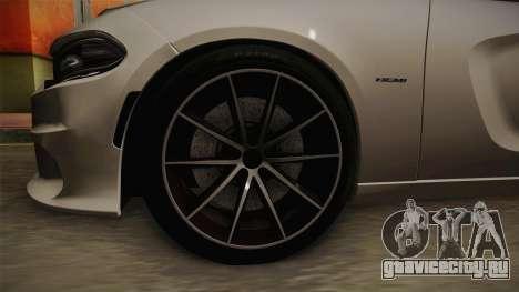 Dodge Charger Hellcat для GTA San Andreas вид сзади
