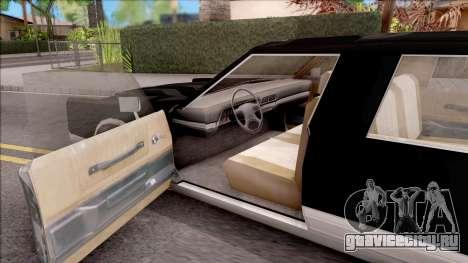 Driver PL Chauffeur для GTA San Andreas вид изнутри