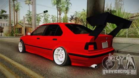 BMW E36 Sedan для GTA San Andreas вид слева