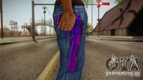 Purple Desert Eagle для GTA San Andreas третий скриншот