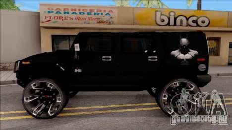 Hummer H2 Batman Edition для GTA San Andreas вид слева