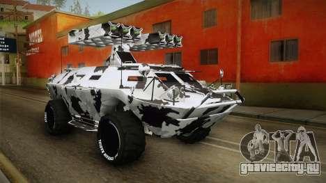 APC GTA 5 GunRunning Custom Turret для GTA San Andreas