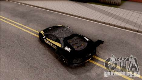 Lamborghini Aventador LP700-4 LB Walk Hunter для GTA San Andreas вид сзади