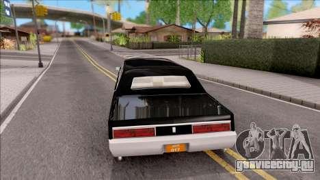 Driver PL Chauffeur для GTA San Andreas вид сзади слева