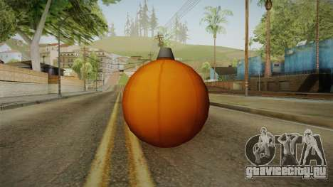 Green Goblin Classic Pumpkin Grenade для GTA San Andreas второй скриншот