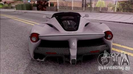 Ferrari LaFerrari v2 для GTA San Andreas вид сзади слева