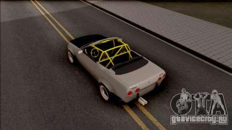 Nissan Skyline R32 Cabrio Drift Rocket Bunny для GTA San Andreas вид сзади