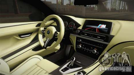 BMW M6 Coupe (F13) для GTA San Andreas вид изнутри