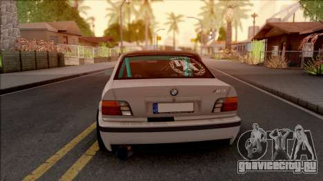 BMW M3 E36 Drift v2 для GTA San Andreas вид сзади слева