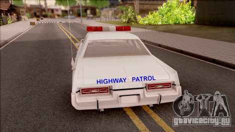 Dodge Monaco Montana Highway Patrol v2 для GTA San Andreas вид сзади слева