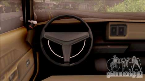 Dodge Monaco Montana Highway Patrol v2 для GTA San Andreas вид изнутри