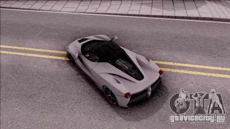 Ferrari LaFerrari v2 для GTA San Andreas вид сзади