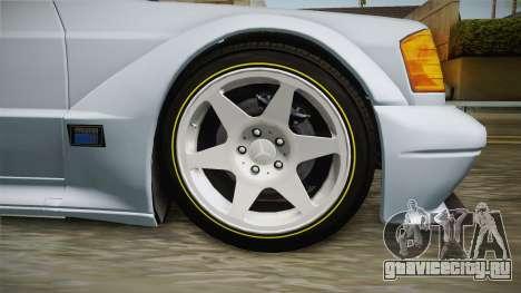 Mercedes-Benz W201 190E для GTA San Andreas вид сзади