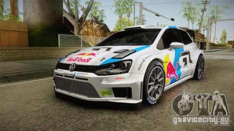 Volkswagen Polo R WRC для GTA San Andreas вид сзади слева