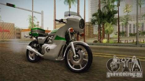 New Police Bike v2 для GTA San Andreas вид справа