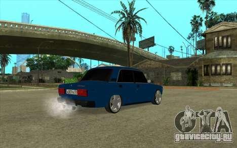 ВАЗ 2107 Белок [v1.0] для GTA San Andreas вид сзади слева