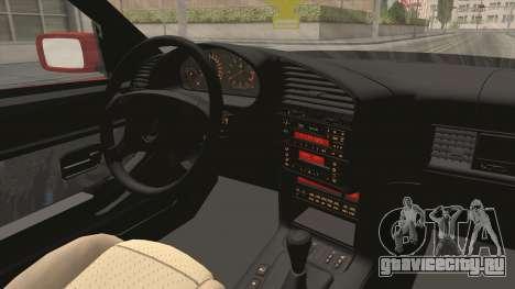BMW E36 Sedan для GTA San Andreas вид изнутри