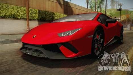 Lamborghini Huracan Performante LP640-4 2017 v1 для GTA San Andreas вид справа
